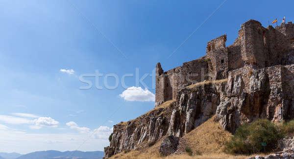 Stock photo: Castle and Convent of Calatrava la Nueva in Spain