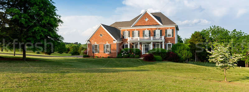 Front elevation large single family home Stock photo © backyardproductions
