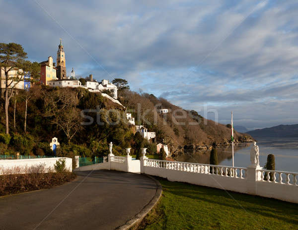 Winter scene at Portmeirion in Wales Stock photo © backyardproductions