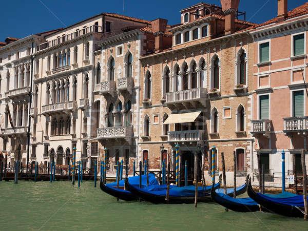 Venecia lado canal edificio ciudad verano Foto stock © backyardproductions