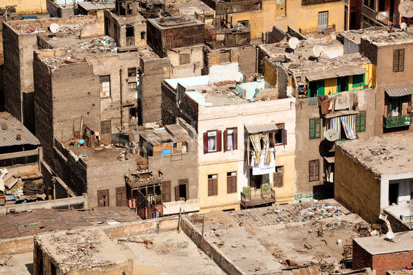 Slum dwellings in Cairo Egypt Stock photo © backyardproductions