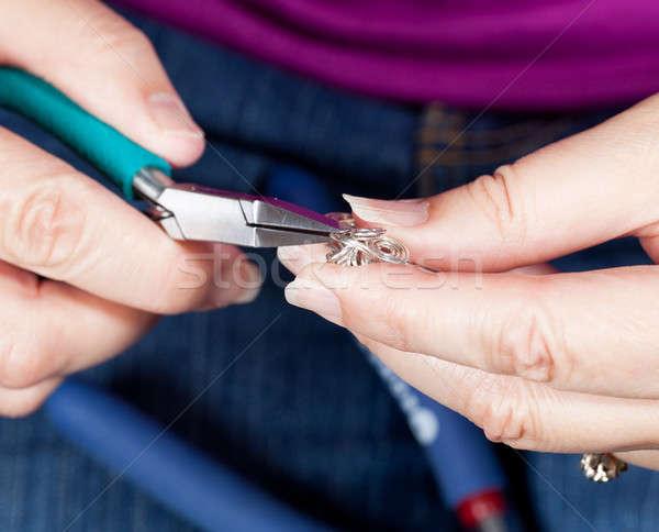 Takı eller gümüş Stok fotoğraf © backyardproductions