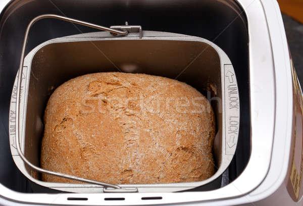 Wheat bread baked in machine Stock photo © backyardproductions