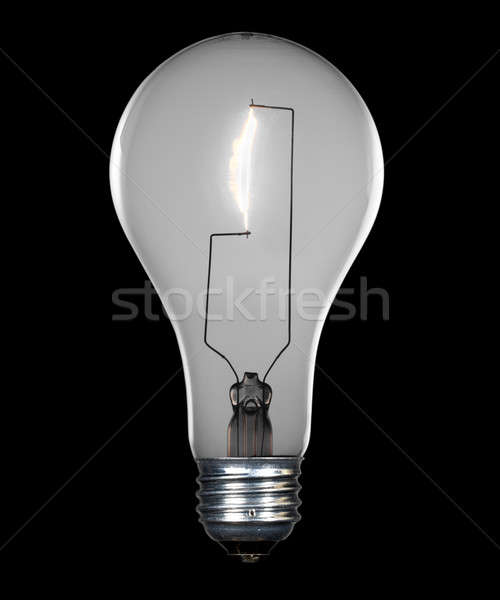 Incandescent lightbulb with path Stock photo © backyardproductions