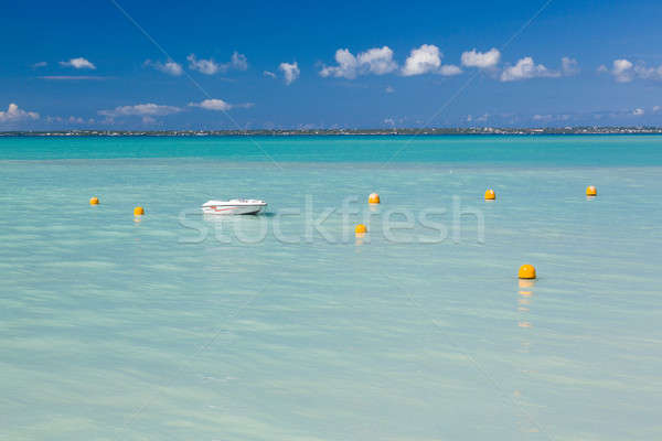 Speedboat in calm sea off Grand Case St Martin Stock photo © backyardproductions