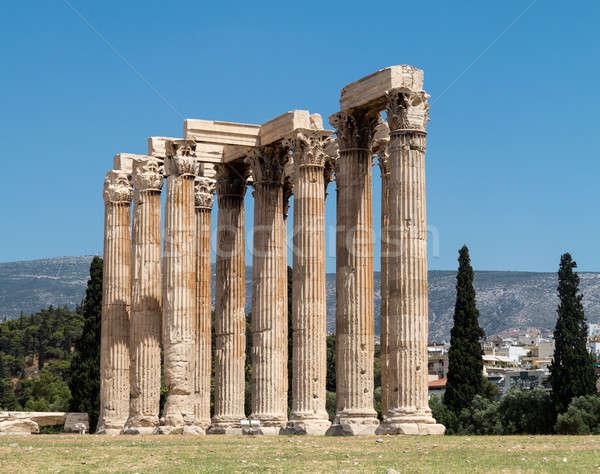Temple of Zeus with Acropolis Stock photo © backyardproductions