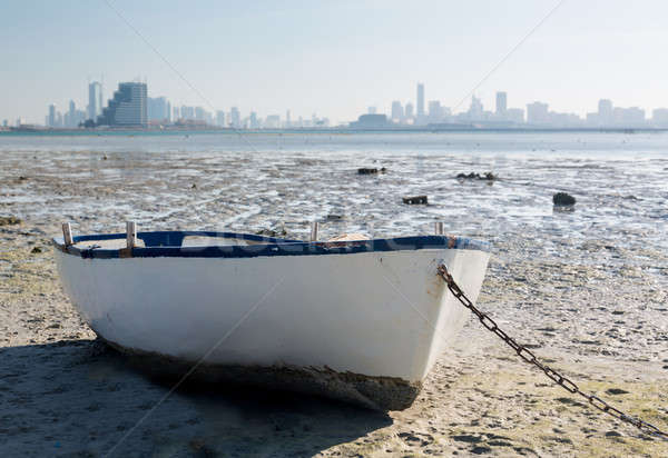 Fishermans boat on waterfront in Bahrain Stock photo © backyardproductions