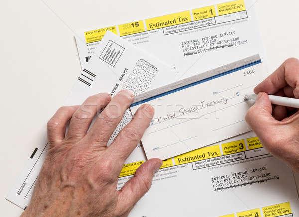 US IRS Tax form 1040-ES stock photo © Steven Heap ...