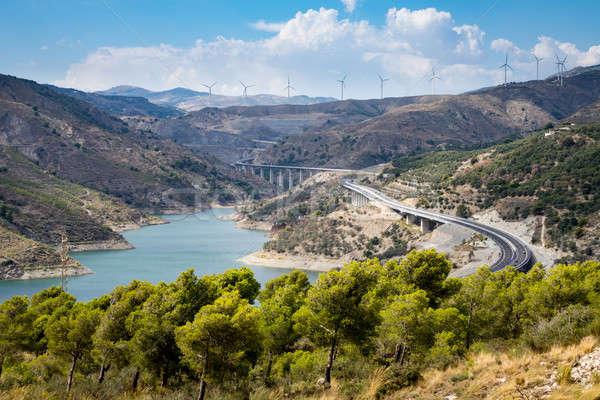 A-44 autoroute through Sierra Nevada mountains Stock photo © backyardproductions