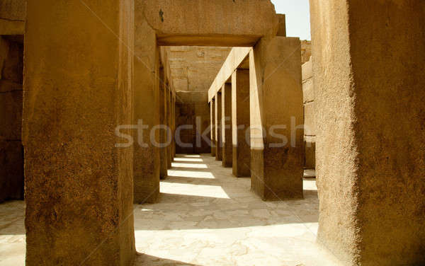 Ancient stone pillars underneath Spinx Stock photo © backyardproductions