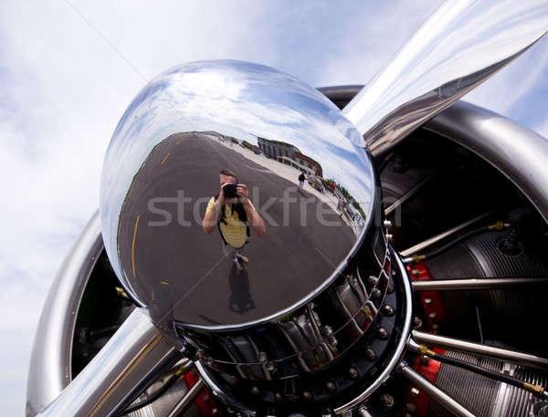 American AT-6 Texan engine Stock photo © backyardproductions