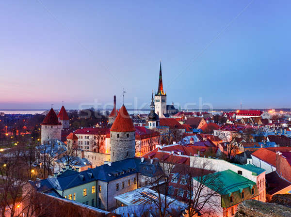 Barrio antiguo Tallinn Estonia famoso mundo patrimonio Foto stock © backyardproductions