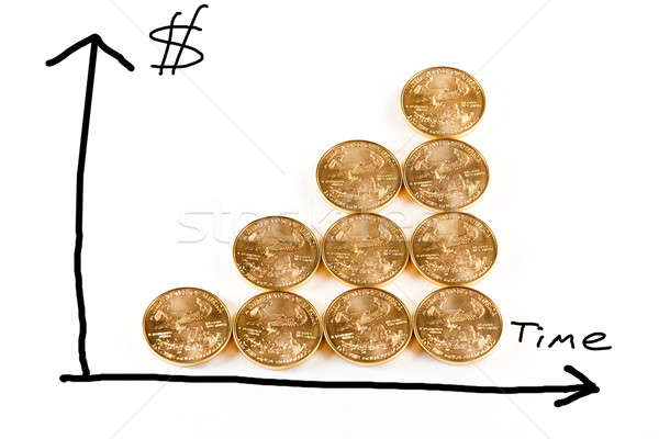 Gold coins forming a graph Stock photo © backyardproductions