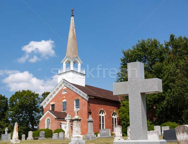 Templom kápolna pont Maryland használt USA Stock fotó © backyardproductions