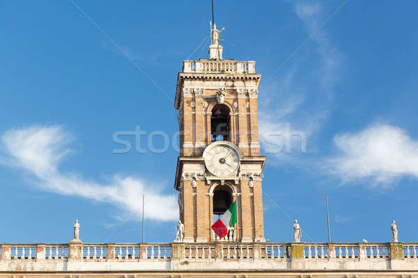Roma stadhuis klok bel toren Rome Stockfoto © backyardproductions
