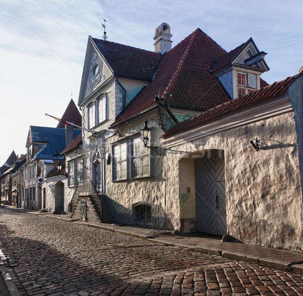 Vecchio Tallinn vecchia casa strada Estonia hdr Foto d'archivio © backyardproductions
