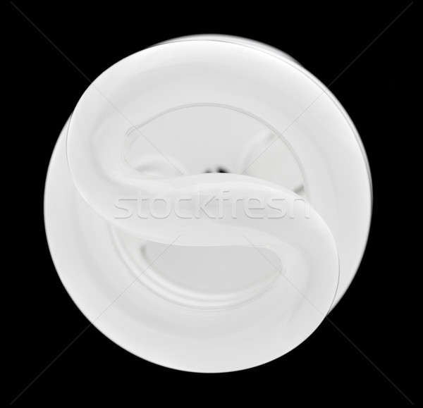 Fluorescent light bulb lit from above Stock photo © backyardproductions