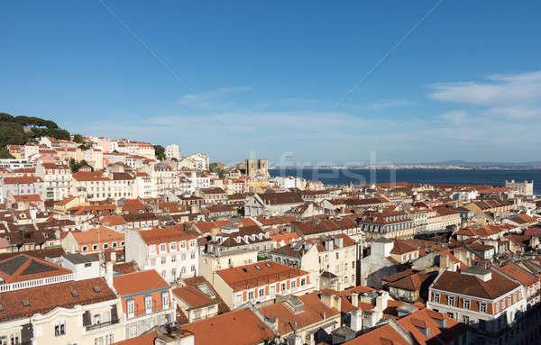 Distrito Lisboa Portugal edad casas techos Foto stock © backyardproductions