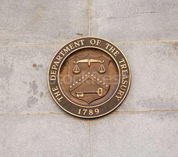 Seal on Treasury Building Washington DC Stock photo © backyardproductions
