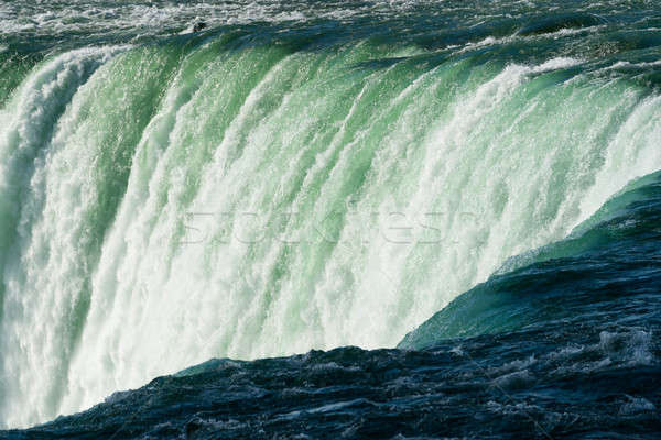 Stockfoto: Hoefijzer · waterval · kant · Niagara · Falls · natuur · rivier