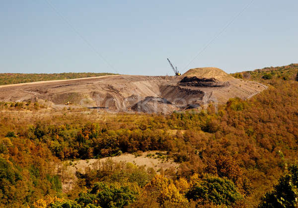 Stock photo: Mountain top coal quarry