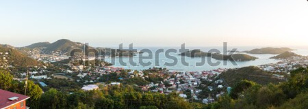 Sunset over Charlotte Amalie St Thomas Stock photo © backyardproductions