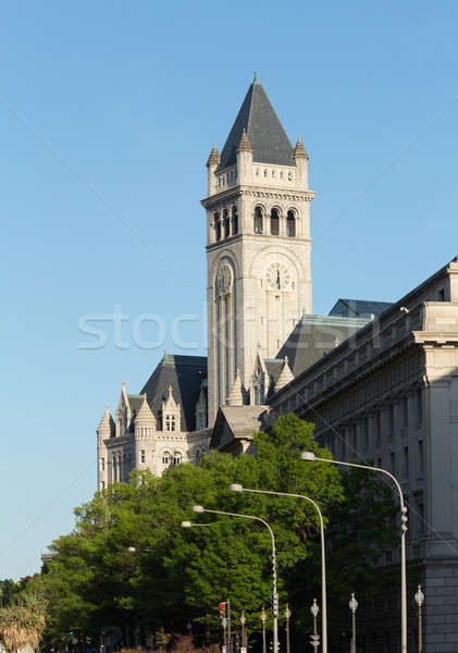Toren oude postkantoor gebouw Washington Pennsylvania Stockfoto © backyardproductions