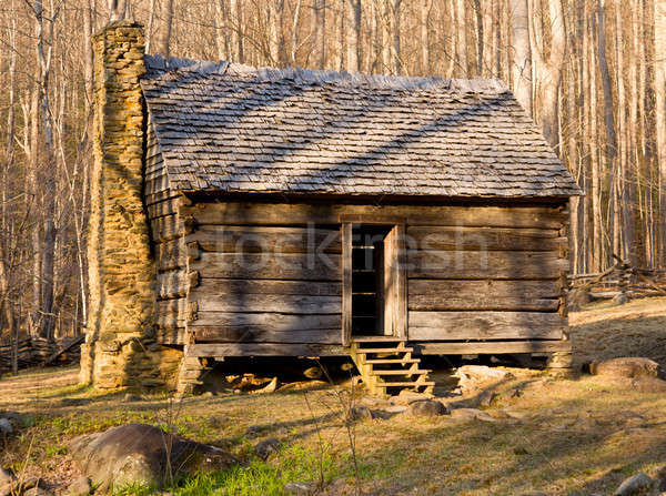 Old cabin in Smoky Mountains Stock photo © backyardproductions