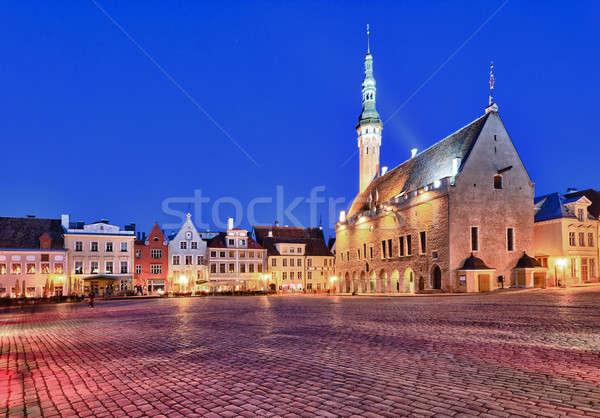 Città vecchia sala Tallinn municipio piazza Estonia Foto d'archivio © backyardproductions