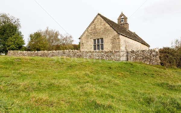 Exterior of St Oswald parish church Widford Stock photo © backyardproductions