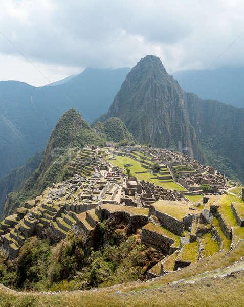Machu Picchu régió Peru reggel köd tájkép Stock fotó © backyardproductions