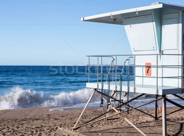 California lifeguard post on sandy beach Stock photo © backyardproductions