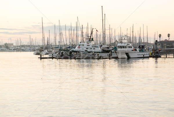 Yachts and boats in Ventura harbor dawn Stock photo © backyardproductions