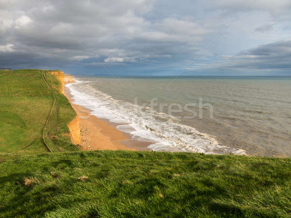 Coast and Cliffs at West Bay Dorset in UK Stock photo © backyardproductions