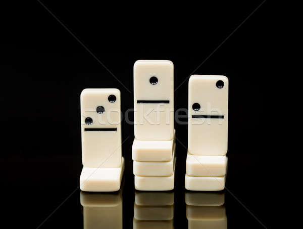 Foto stock: Blanco · ganador · carrera · imagen · tres