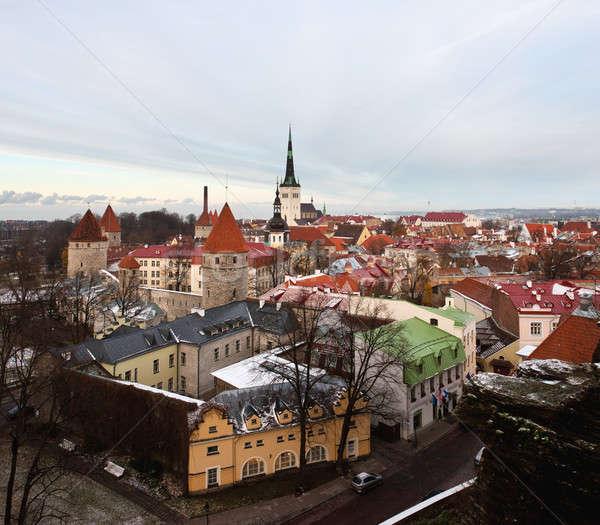 Città vecchia Tallinn Estonia città muri Foto d'archivio © backyardproductions
