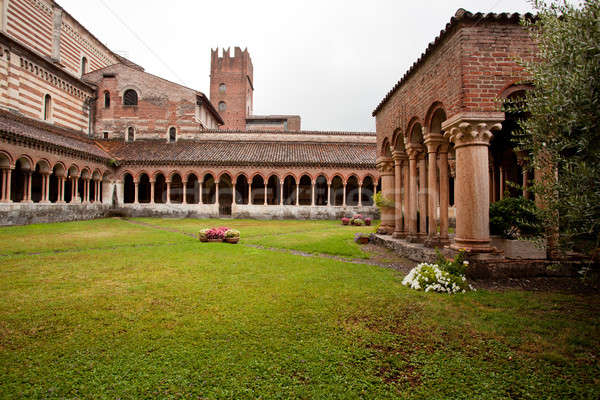 Cloister of San Zeno Stock photo © backyardproductions