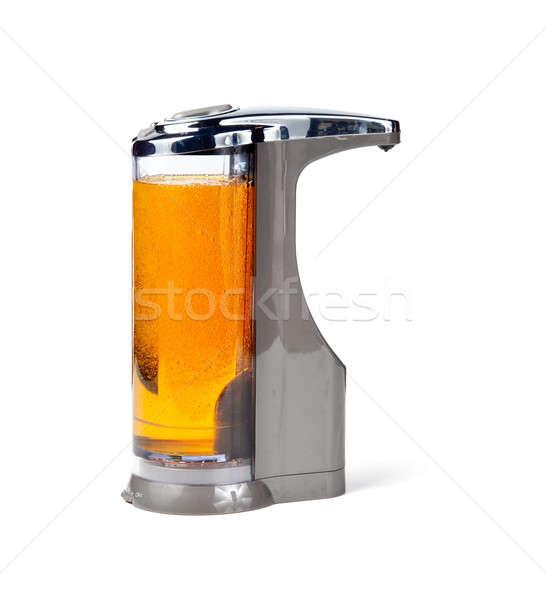 Elektronik sabun modern dezenfektan sağlık banyo Stok fotoğraf © backyardproductions
