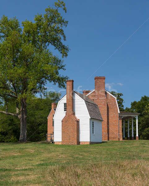 Kő ház kikötő dohány Maryland történelmi Stock fotó © backyardproductions