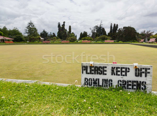 Bowling green in Rotorua in Government Park NZ Stock photo © backyardproductions