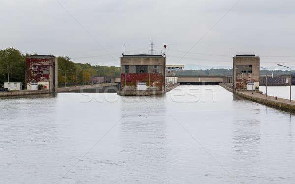 Ingresso lock fiume danubio acqua Foto d'archivio © backyardproductions