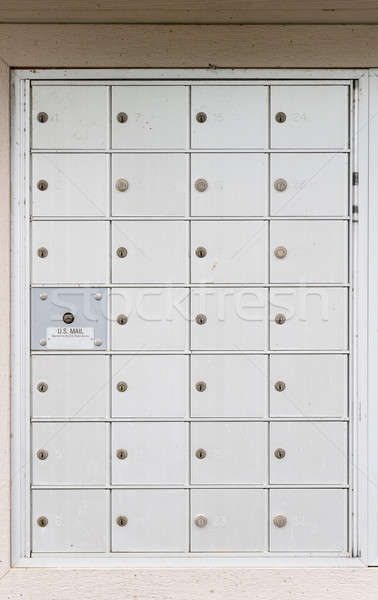 USPS metal mailboxes for town house development Stock photo © backyardproductions