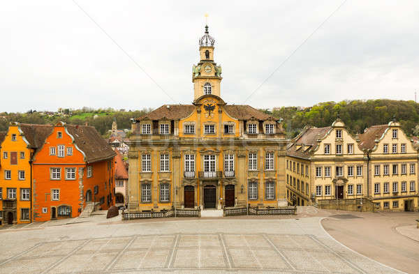 Painted houses in Schwabisch Hall Germany Stock photo © backyardproductions