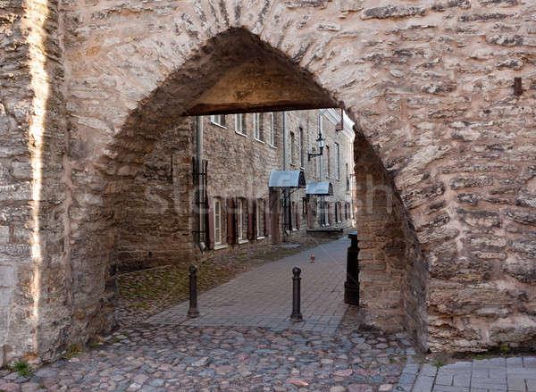 Stock photo: Arch in castle walls of Tallinn