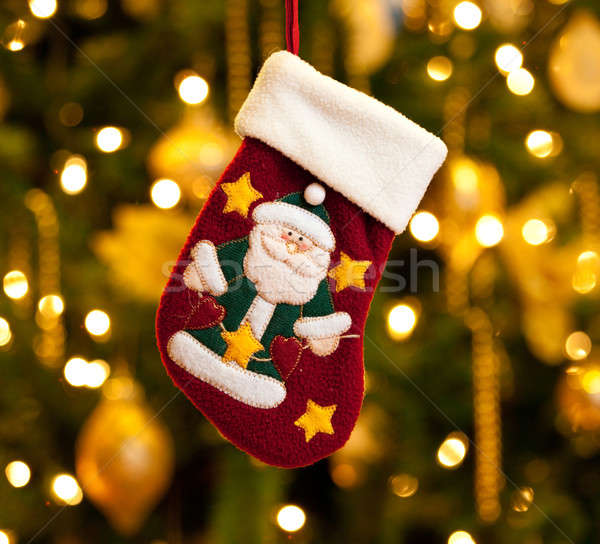 Child's xmas stocking Stock photo © backyardproductions