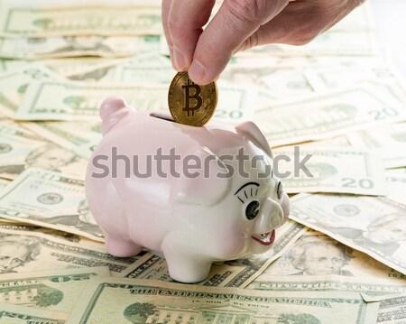 Mano 20 dollaro bill salvadanaio dita Foto d'archivio © backyardproductions