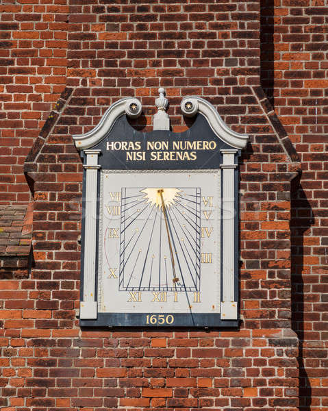 Ancient Sundial on Moot Hall in Aldeburgh  Stock photo © backyardproductions
