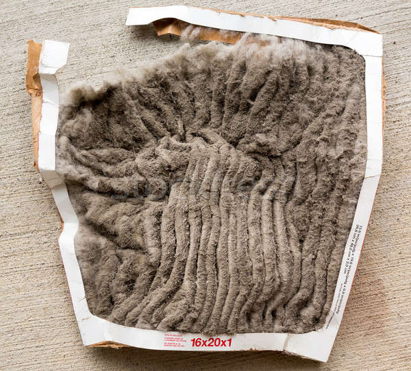 Airconditioning filteren stof vuil vallen stukken Stockfoto © backyardproductions