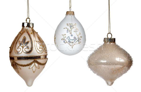 Three christmas ornaments Stock photo © backyardproductions