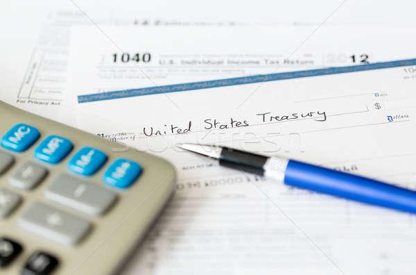 Stok fotoğraf: ABD · vergi · form · 1040 · yıl · 2012